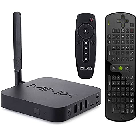Develop MINIX NEO U1 Android 5.1.1 TV Box Amlogic S905 Quad Core Cortec A53 Smart TV Streaming Media Player Supports 4K, Kodi 16.0, 3D With RC11 Mini Keyboard Air Mouse