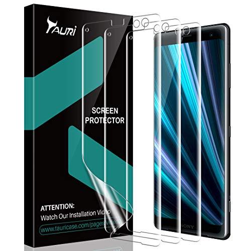 TAURI [3 Pièces Protection Écran pour Sony Xperia XZ3, [Compatible avec Coque][sans Bulle] HD Clair Doux TPU Film