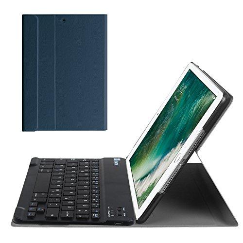 Fintie iPad 9.7 Zoll 2018 2017 / iPad Air 2 / iPad Air Bluetooth Tastatur Hülle Keyboard Case - Ultradünn leicht SlimShell Ständer Schutzhülle mit magnetisch abnehmbarer drahtloser deutscher Bluetooth Tastatur für Apple iPad 9,7'' 2018 / 2017, iPad Air 1 / 2, Marrineblau