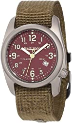 Bertucci Mens 12050 A-2T Field Colors Durable Titanium Field Watch