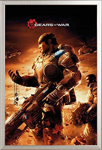 Gears Of War Poster Armour + accessori cornince in alluminio, argento