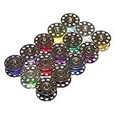 Otto Harvest (0,03€/m) 15x Nähmaschinenspule mit Garn Metallspule für Nähmaschine Spule Metall Unterfadenspulen Spulen Nähgarnspulen Neu (Vielfarbig)