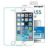 Novago compatible avec iPhone 5, iPhone 5S, iPhone SE, iPhone 5C Film protection écran en verre trempé avec le Filtre Lumière Bleue (x1)