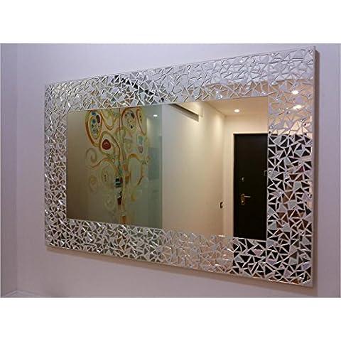 specchio/specchiera in mosaico e foglia