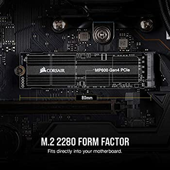 Corsair MP600 Force Series, 1 TB High-speed Gen 4 PCIe x4, NVMe M.2 SSD (Sequential Read Speeds of Up to 4,950 MB/s and Write Speeds of Up to 4,250 MB/s)