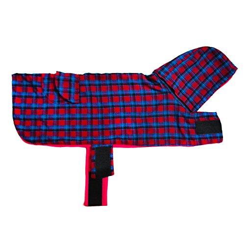 Pink Tartan Hoodie Dog Jacket -L
