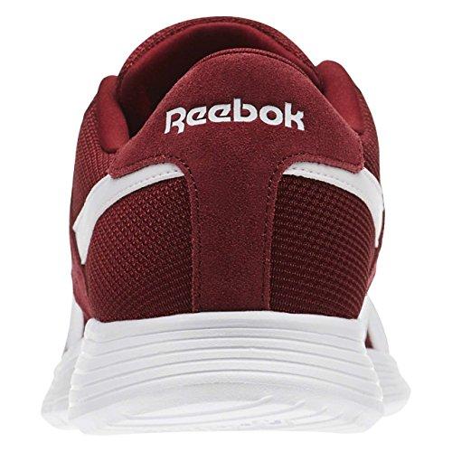Reebok Royal Ec Ride, Chaussures de Sport Homme, Bleu Rouge - Rojo (Collegiate Burgundy / White)