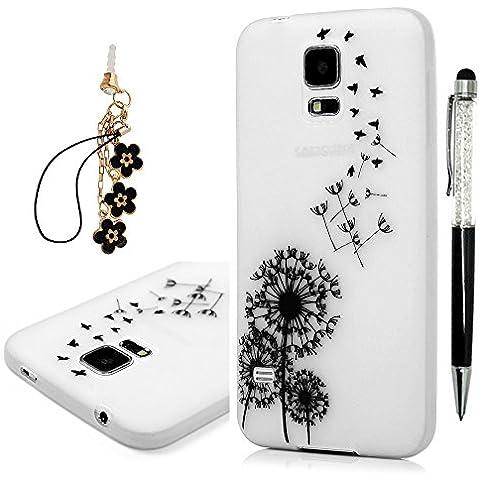Samsung Galaxy S5 i9600 custodia, YOKIRIN Cover Case Cover in TPU pelle da parati Glow (Box Parati)