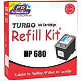 TURBO INK CARTRIDGE REFILL KIT for HP 680 Black Ink Cartridge