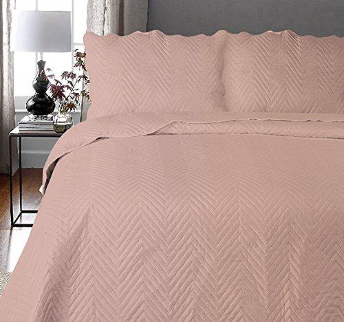 Uni Couette chaude pour lit Patchwork Édredon Jeté de lit   Polyester   Taille 220 x 240 cm   Arcade Rose   par Mode de coton
