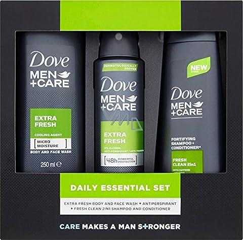 Dove Geschenkset Men + Care - Extra Fresh (Douchegel + Deospray + Shampoo)