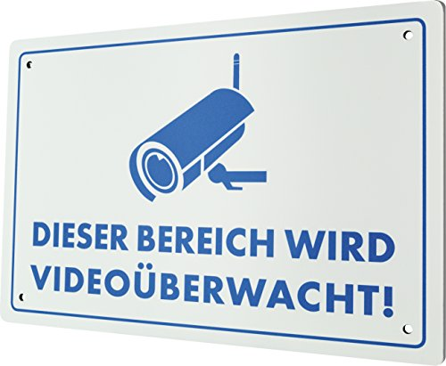 SCHWAIGER -HSCHILD- Warnschild fürs Haus / Einbruchschutz / witterungsbeständig / Videoüberwachung