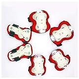 LYLTJ68 Kinderpolsterset mit Knie Ellbogen und Handgelenk, Kinder Kinderschutz Set 6 TLG. Für Skateboard Inline Rollschuhe,Rot,M