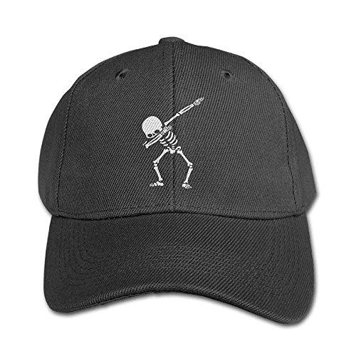 U-Only Child Dabbing Skeleton Twill Adjustable Outdoor Peaked Hat Baseball Cap