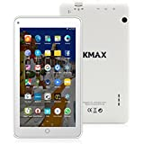"""ECVILLA KMAX Tablette tactile 7"""" - Quad-Core, Android 5.1, Double caméra, Bluetooth, Wi-Fi, 1024x600 HD, 8GB (Blanc)"""