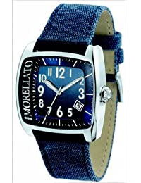 Morellato - S020N006 - Montre Homme - Quartz Analogique - Dateur - Bracelet Cuir bleu
