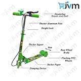 #8: 3 Wheel Scooter/Cycle with Height Adjustable & Fold able Kids Scooter with Led Lights in Wheel (Brake & Bell) (Green)