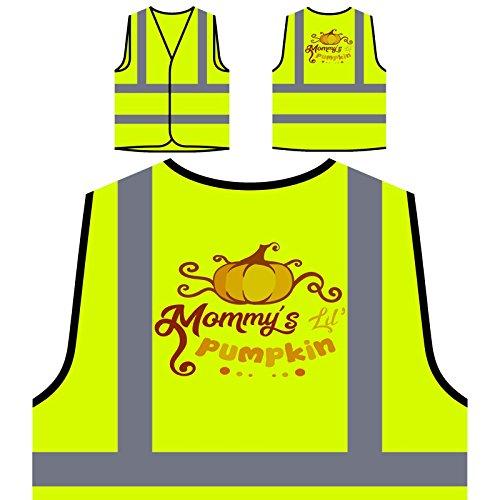 Mommys Lil Kürbis 1 Personalisierte High Visibility Gelbe Sicherheitsjacke Weste t203v