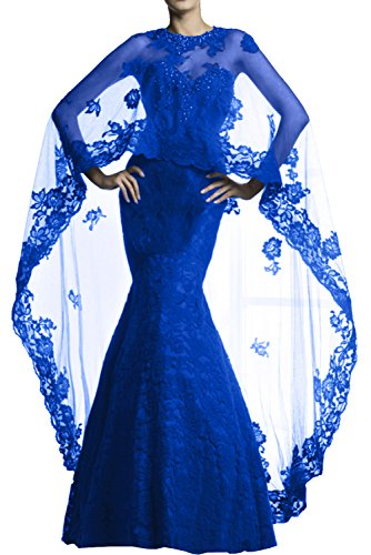 Milano Bride Weinrot Hochwertig Spitze Stola Meerjungfrau Abendkleider Partykleider Promkleider langes Damenmode Royal Blau