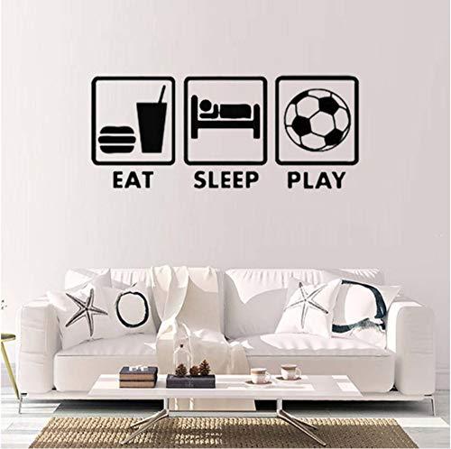 Spielzimmer-spiel-tabellen (Dalxsh Eat Sleep Spielen Zitate Entspannende Lifstyle Wandaufkleber Mit Der Wandtattoos Für Teen Spielen Spielzimmer Home Dekorationen 18X42 Cm)