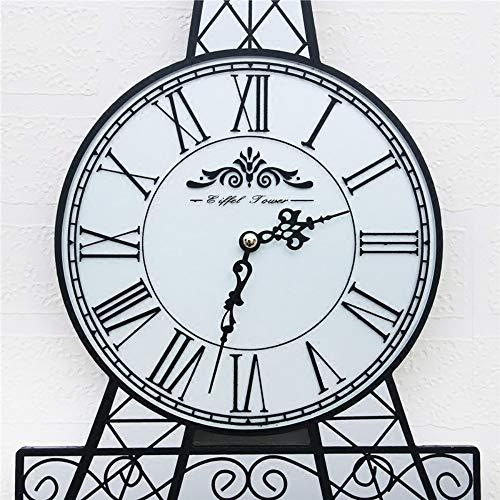 XIXIGZ Relojes De Pared Torre Creativa Mesa De Colgar Personalidad Decorativa Reloj De Pared Sala De Estar Mute Arte Reloj Hogar Pared Nórdica Reloj Moderno