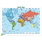 Little Wigwam - Mantel individual del mapa del mundo (en inglés)