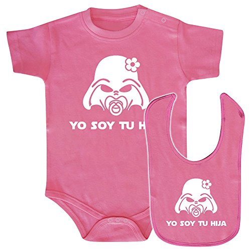 Pack Body bebé y babero Yo soy tu hija (Star wars/Darth Vader - Yo so