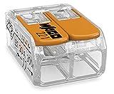 Verbindungsklemme WAGO-COMPACT 221, 2-Leiter-Klemme mit Betätigungshebeln (50 Stück)