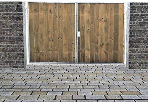 Elektrisches Einfahrtstor Ss Tor Holztor Gartentor Hoftor Verzinkt mit Pfosten & Holzfüllung 2-flügelig 200cm x 160cm