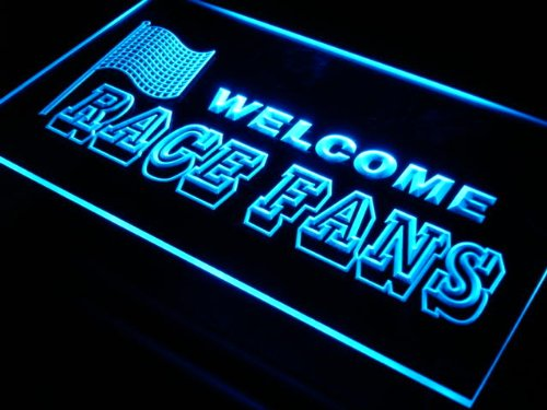 ADV PRO j288-b Welcome Race Fans Car Decor Neon Light Sign Barlicht Neonlicht Lichtwerbung