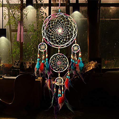 Prevently Dream Catcher Car Home Decor Handgewebter Traumfänger Handmade Dream Catcher Net Hanging Handwerk Geschenk für Zimmerdekoration Halloween Dekoration