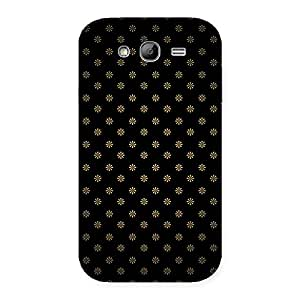 Enticing Golden Flower Black Back Case Cover for Galaxy Grand Neo Plus