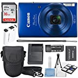 #7: Canon PowerShot ELPH 190 IS Digital Camera (Blue) with 10x Optical Zoom and Built-In Wi-Fi with 16GB SDHC + Replacement battery + Protective camera case Along with Deluxe Cleaning Bundle
