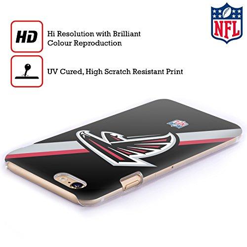 Offizielle NFL Einfarbig Atlanta Falcons Logo Ruckseite Hülle für Apple iPhone 6 / 6s Streifen