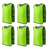 Panegy 6x Sport Leibchen für Fußball Basketball Markierungshemd Fußball Trainingsleibchen Fußballtraining Scrimmage Weste Trikots für Kinder in Grün