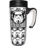 Star Wars 01433 - Taza de viaje de 533 ml, color blanco y negro