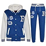 A2Z 4 Kids Kinder Mädchen Jungen Baseball FOX Trainingsanzug - B.B Tracksuit Royal Blue 13 Years