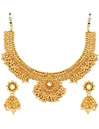 Sukkhi Astonish Jalebi Design Gold Plated Choker Necklace Set For Women
