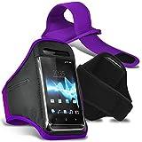 Huawei Honor 9 Brassard-étui de protection avec bande en Strap ajustable pour le sport, la gym, le jogging, la course, le vélo - Pourpre/Purple - par Gadget Giant