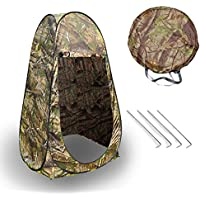 """Camping Pop Up Tent, Portable Instant Shower Privacy Tent Waterproof Camping Changing Dressing Fishing Shelter Tent Zipper Door with Storage Bag, 75"""" H x 40"""" L x 40"""" W"""