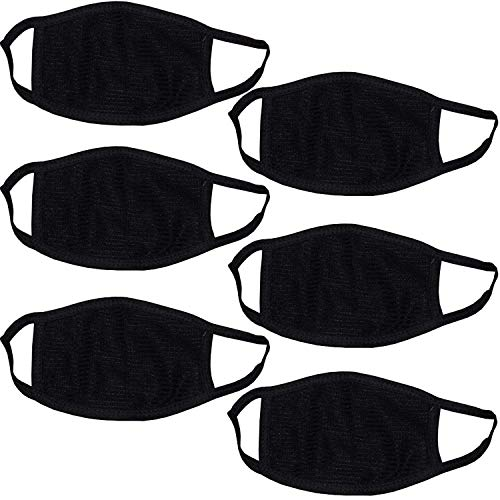 PINKIT 6 Pcs Dust/Anti Pollution Protective Face Mask Mouth & Nose Respirator Outdoor (Pack of 6 mask)