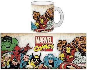 Semic Distribution - SMUG013 - Ameublement et Décoration - Mug Marvel Retro Série 1 - Marvel Group