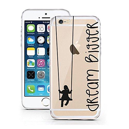 Blitz® PUSHER 2 iPHONE Transparent Weiche Silikon Schutzhülle TPU Bumper Case Dream Bigger iPhone 6 6s Dream Bigger