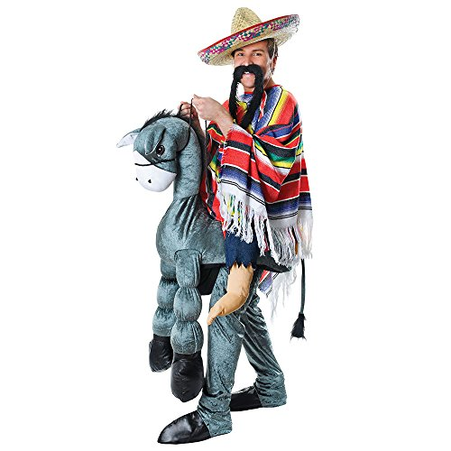 4 Hey Amigo reitender Mexikaner Kostüm, Medium, Mehrfarbig ()