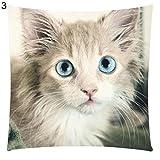 Hearsbeauty Kissenbezug mit Katzenmotiv, Baumwolle, Leinen, für Autositz, Sofakissen 3#