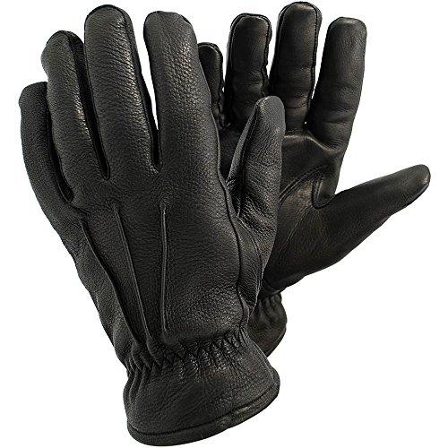 Ejendals Lederhandschuh Tegera 355, Größe 8, 1 Stück, schwarz, 355-8 (Gummizug Hirschleder)
