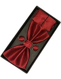Navaksha Micro Fiber Bow Tie , Pocket Square and Cufflinks Set