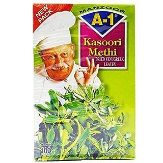 A1 - Getrocknete Bockshornkleeblätter (Kasoori Methi) - 100 g