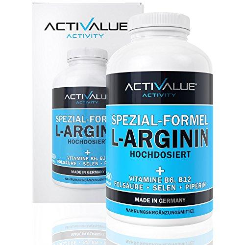 VERGLEICHSSIEGER 2018*: L-Arginin Spezial-Formel, das Erfolgsprodukt von Dr.med. Wagner, 4500mg L-Arginin HCL, 360 Kapseln, 1 Dose (317 g)