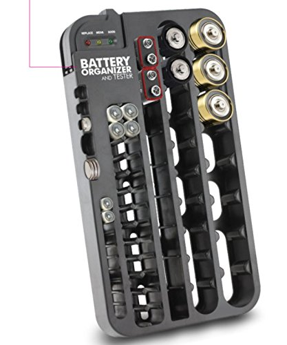 72batteria di immagazzinaggio caddy organizer capacità della batteria tester aa aaa c d